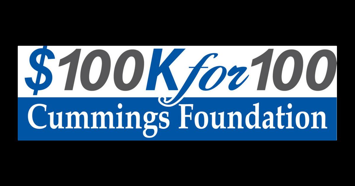 100K for 100 logo