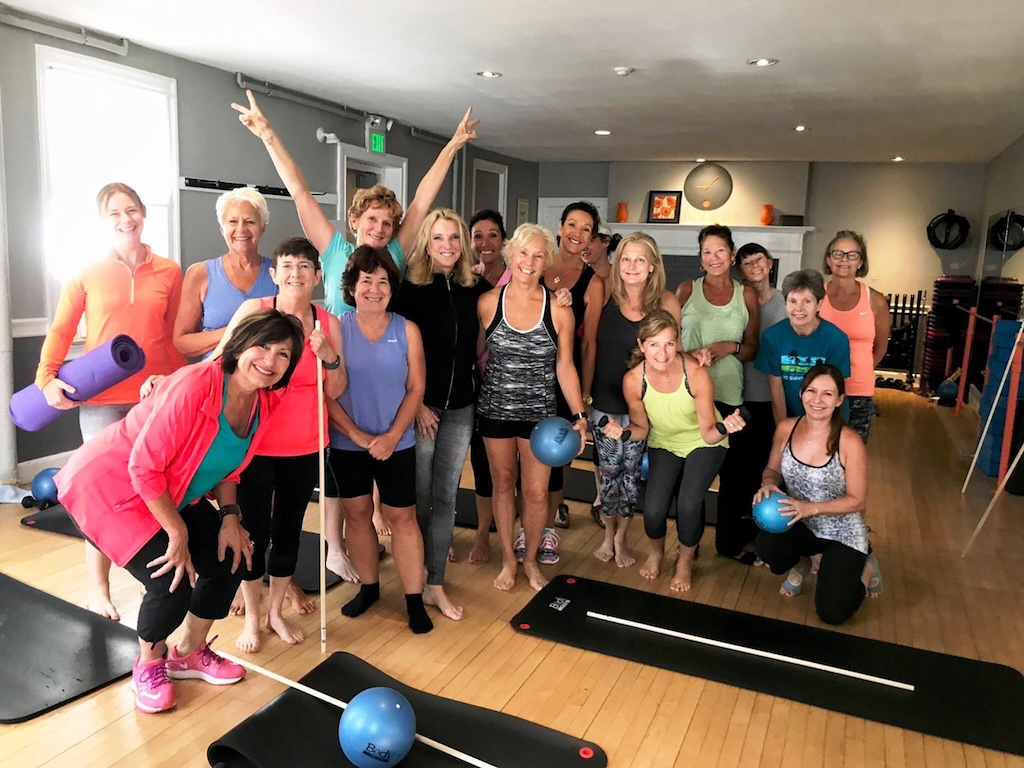 women after an exercise group class
